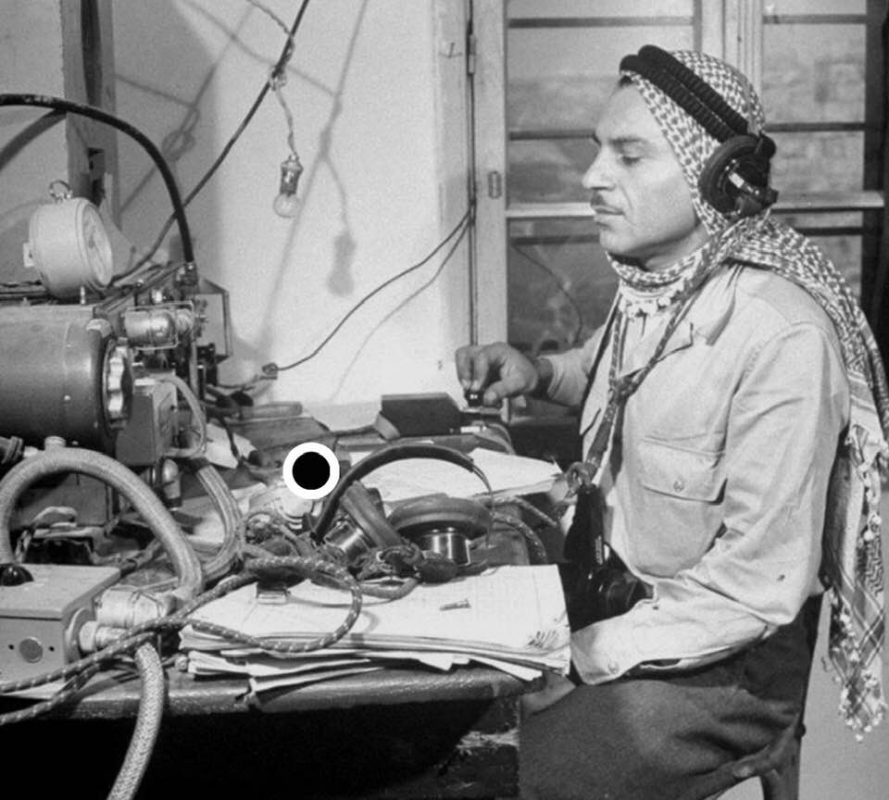 King Hussein of Jordan operates a wireless set number 19