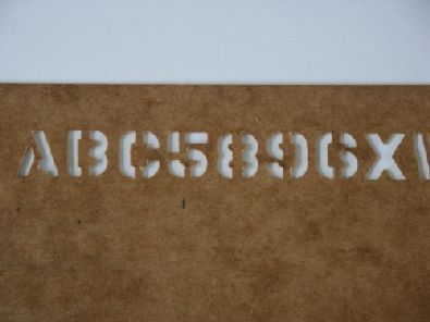 stencil for paiting text on objects